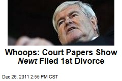 Newt Gingrich Filed for First Divorce, Court Records Show