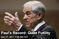 Ron Paul's House Record a Picture of Futility