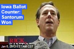 Iowa Ballot Counter: Rick Santorum Won