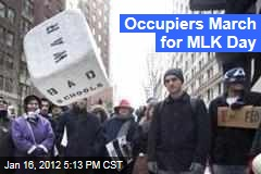 Protesters Hold 'Occupy the Dream' March on New York for Martin Luther King Day