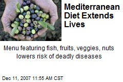 Mediterranean Diet Extends Lives