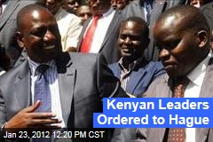 Uhuru Kenyatta, William Ruto of Kenya to Be Tried at International Criminal Court