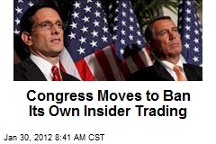 Congress Moves to Ban Its Own Insider Trading