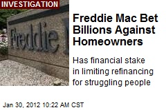 Freddie Mac Bet Billions Against Homeowners