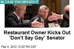 Restaurant Owner Kicks Out &amp;#39;Don&amp;#39;t Say Gay&amp;#39; Senator