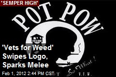 'Vets for Weed' Swipes Logo, Sparks Melee