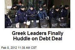 Greek Leaders Finally Huddle on Debt Deal