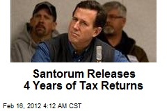 Santorum Releases 4 Years of Tax Returns
