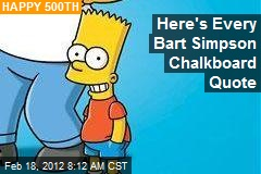 Here's Every Bart Simpson Chalkboard Quote