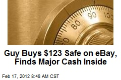 Guy Buys $123 Safe on eBay, Finds Major Cash Inside