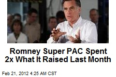 Romney Super PAC Spent $13.9 in January