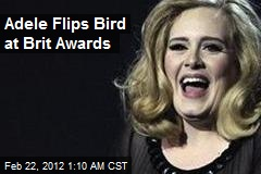 Adele Flips Bird at Brit Awards