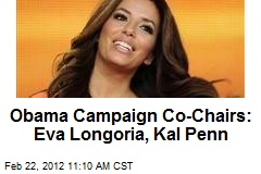 Obama Campaign Co-Chairs: Eva Longoria, Kal Penn