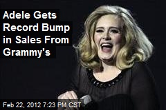 Adele Gets Record Bump in Sales From Grammy's