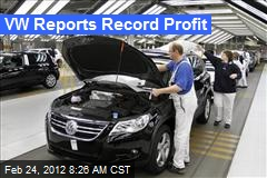 VW Reports Record Profit