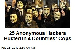 25 Anonymous Hackers Busted in 4 Countries: Cops