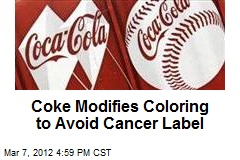Coke Modifies Coloring to Avoid Cancer Label