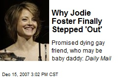 Jodie Foster's gay? never knew that.... she's beautiful though