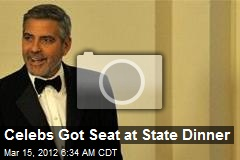 Celebs Got Seat at State Dinner
