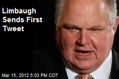 Limbaugh Sends First Tweet