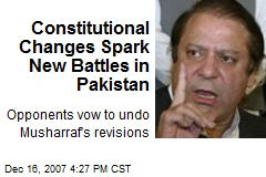 Constitutional Changes Spark New Battles in Pakistan