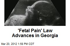 'Fetal Pain' Law Advances in Georgia