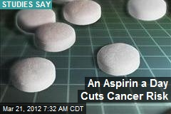 An Aspirin a Day Cuts Cancer Risk