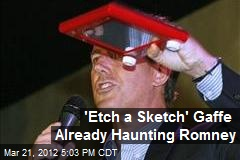 'Etch a Sketch' Gaffe Already Haunting Romney