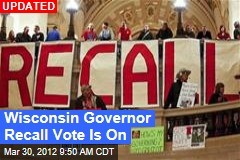 Wisconsin Governor Recall Vote Is On