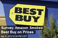 Survey: Amazon Smokes Best Buy on Prices