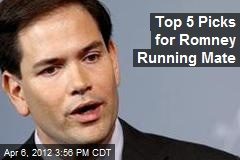 Top 5 Picks for Romney Running Mate
