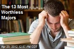 The 13 Most Worthless Majors