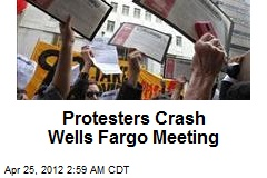 Protesters Crash Wells Fargo Meeting