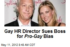 Gay HR Director Sues Boss for Pro-Gay Bias