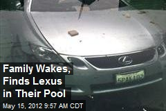 Family Wakes, Finds Lexus in Their Pool