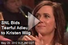 SNL Bids Tearful Adieu to Kristen Wiig