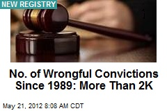 No. of Wrongful Convictions Since 1989: More Than 2K