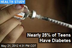 Nearly 25% of Teens Face Diabetes