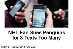 NHL Fan Slaps Text-Happy Penguins With Lawsuit