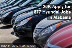 20K Apply for 877 Hyundai Jobs in Alabama