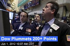 Dow Plummets 200+ Points