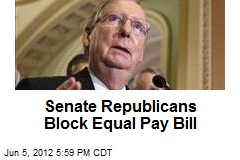 Senate Republicans Block Equal Pay Bill