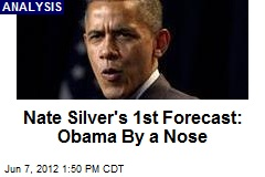 Nate Silver's 1st Forecast: Obama By a Nose