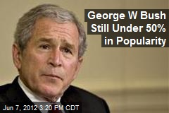 George W Bush Still Under 50% in Popularity