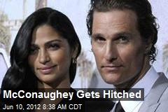 McConaughey Gets Hitched