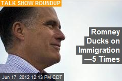 Romney Ducks on Immigration —5 Times