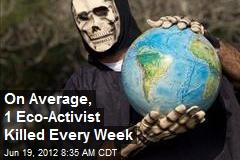 On Average, 1 Eco-Activist Killed Every Week