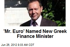 &amp;#39;Mr. Euro&amp;#39; Named New Greek Finance Minister