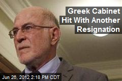 Greek Cabinet Hit With Another Resignation