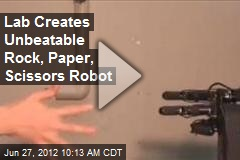 Lab Creates Unbeatable Rock, Paper, Scissors Robot
